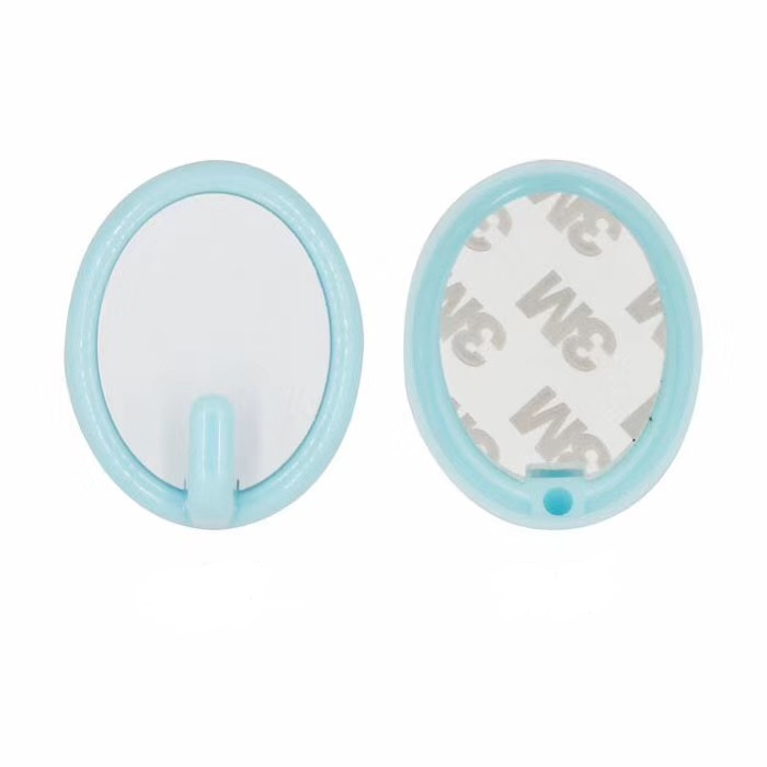 Sublimation Oval Plastic Hook Blue Color