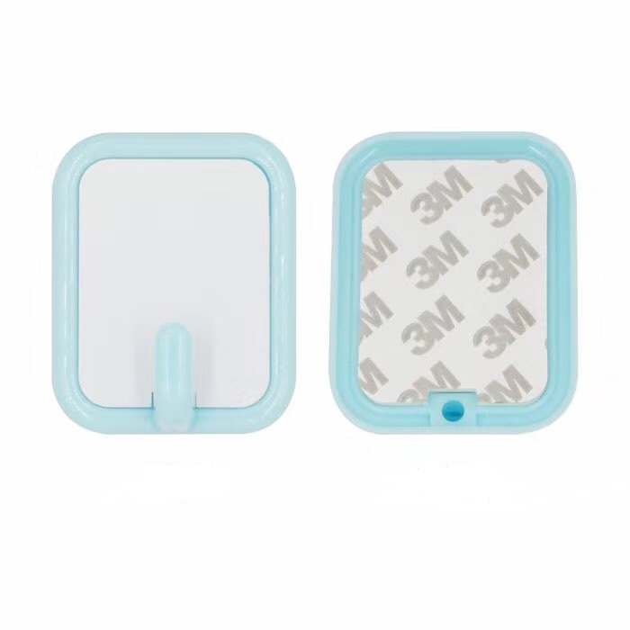 Sublimation Square Plastic Hook Blue Color