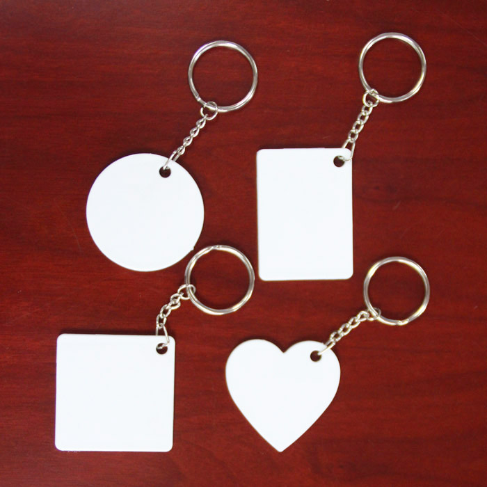 Round Shape Sublimation Plastic Keyring