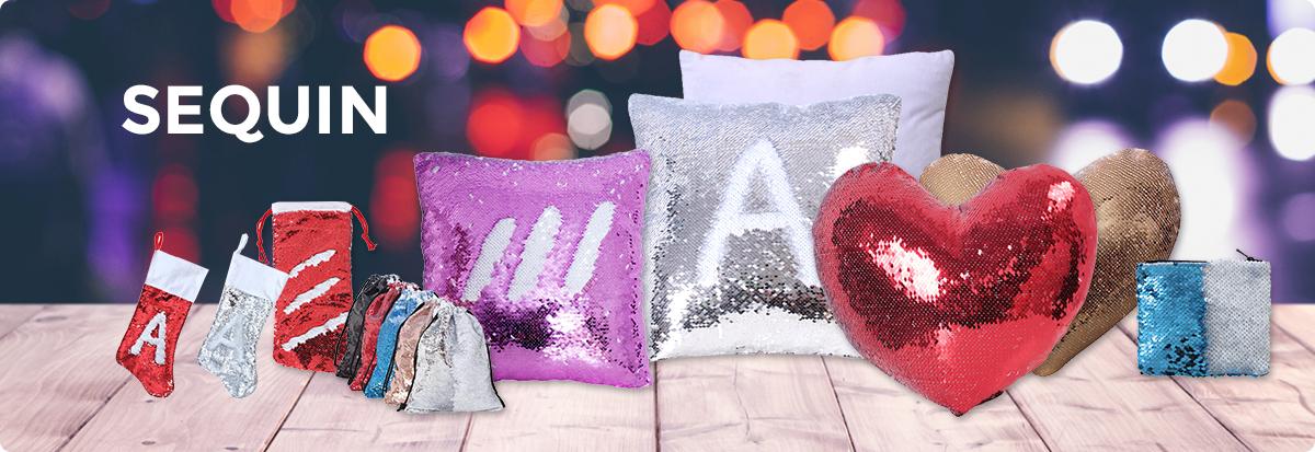 sublimation sequin pillow case
