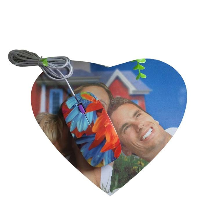 Sublimation Heart Mouse Pad