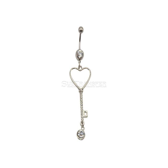 Sublimation Heart Belly Button Ring