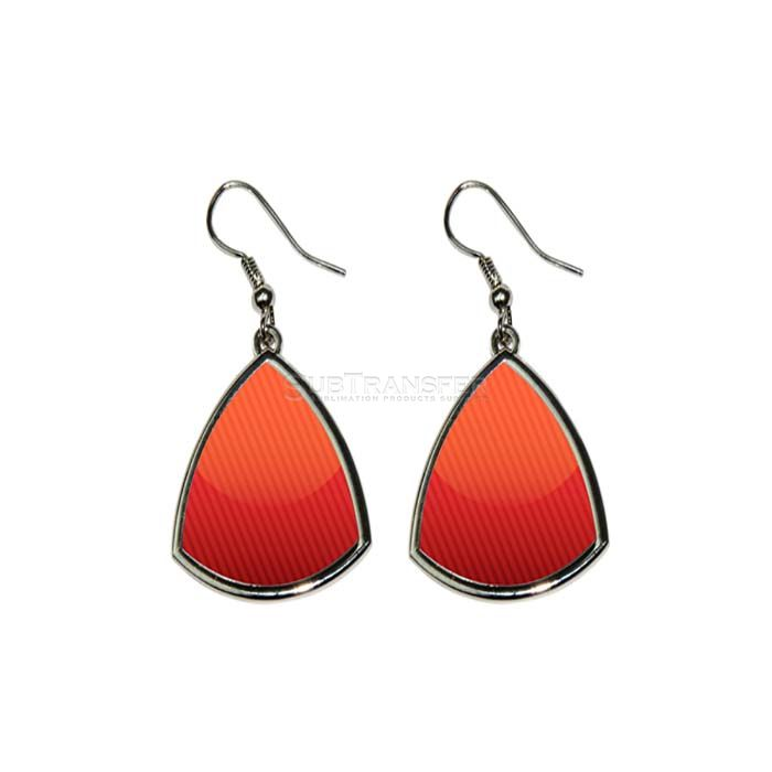 Sublimation Triangle Ear Rings
