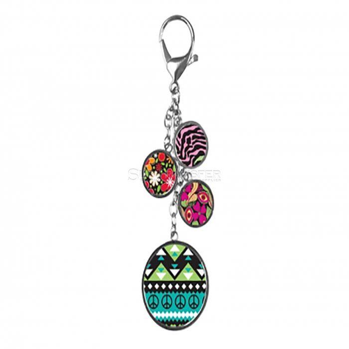 Sublimation Bag Decoration Keychain Round Shape