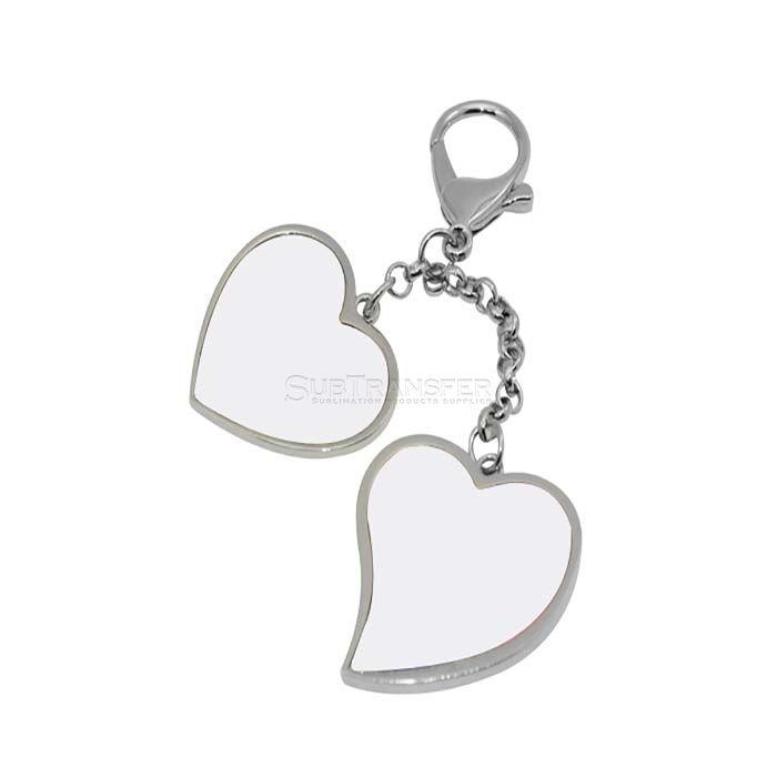 Sublimation Heart Shape Bag Decoration Keychain