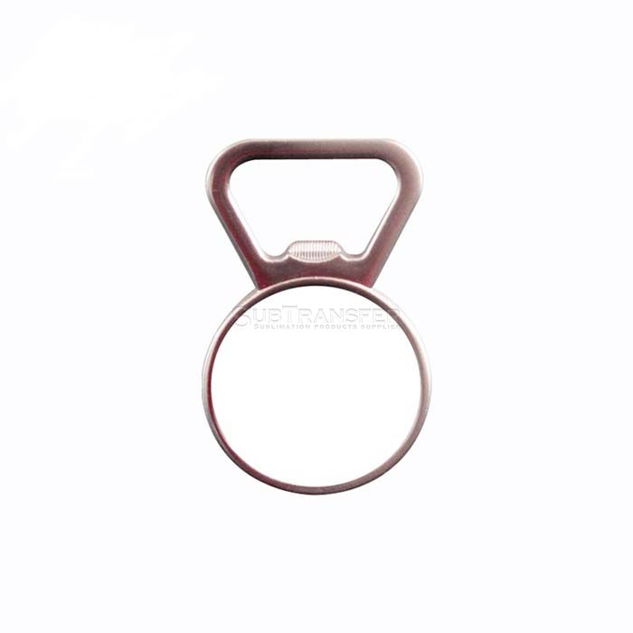 Sublimation Round Bottle Opener With Magnet