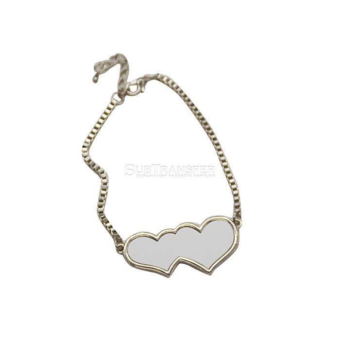 Sublimation Heart Bracelet