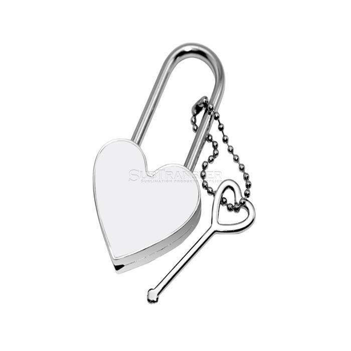 Sublimation Lock Heart Shape