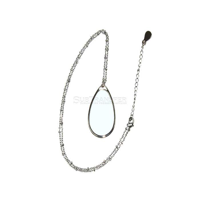 Sublimation Necklace Water Drop Shape