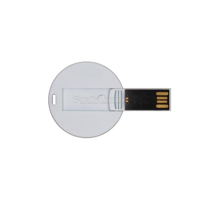 Round Sublimation Plastic USB