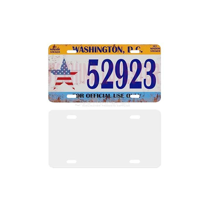 Sublimation Licence Plate