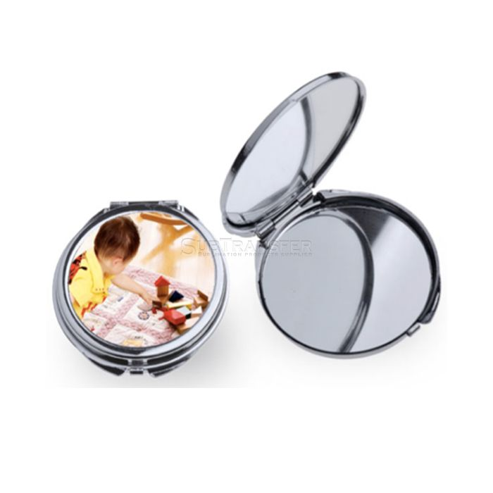 Round Sublimation Compact Mirror