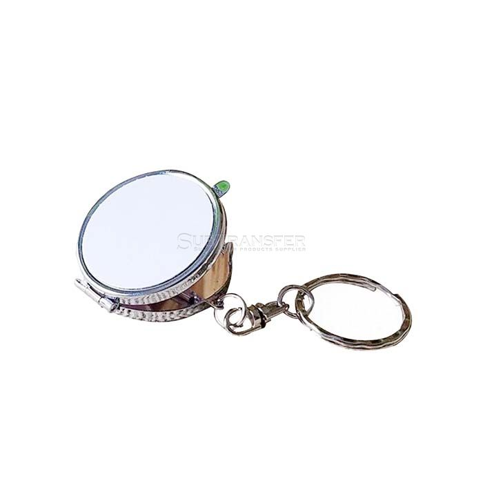 Round Sublimation Mirror With Keyring