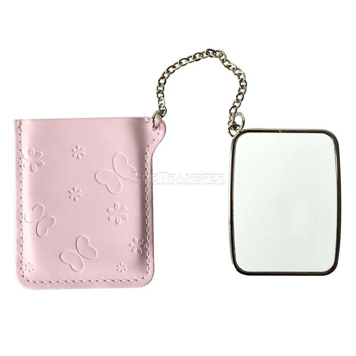 Rectangular Sublimation Compact Mirror with Leather Case