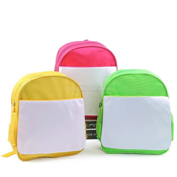 Yellow Sublimation Children Backpack