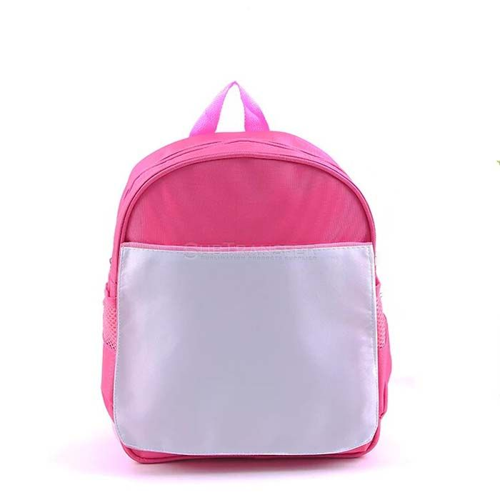 Sublimation Pink Kids Backpack