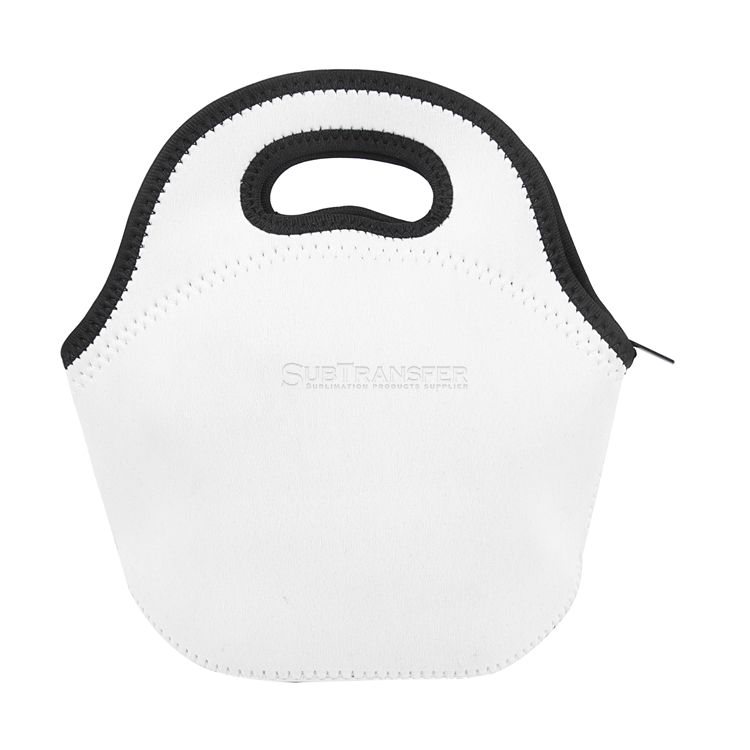 Sublimation White Lunch Bag With Black Edge