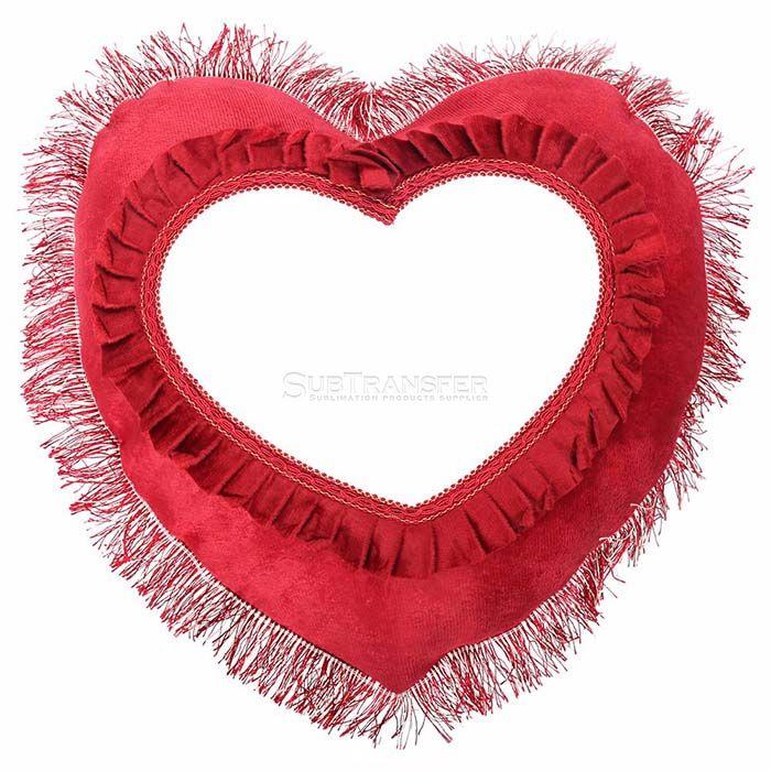 Sublimation Pillow Case Heart