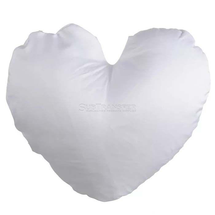 Sublimation Full White Heart Pillow case