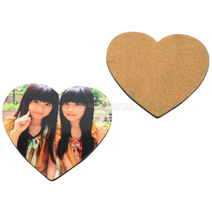 Sublimation MDF Coaster With Cork Back Heart