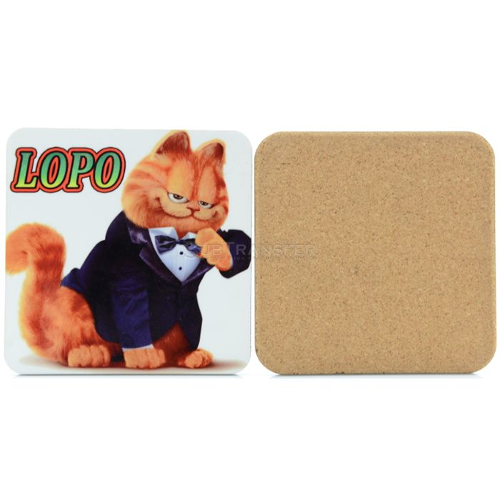 Sublimation MDF Coaster With Cork Back Square