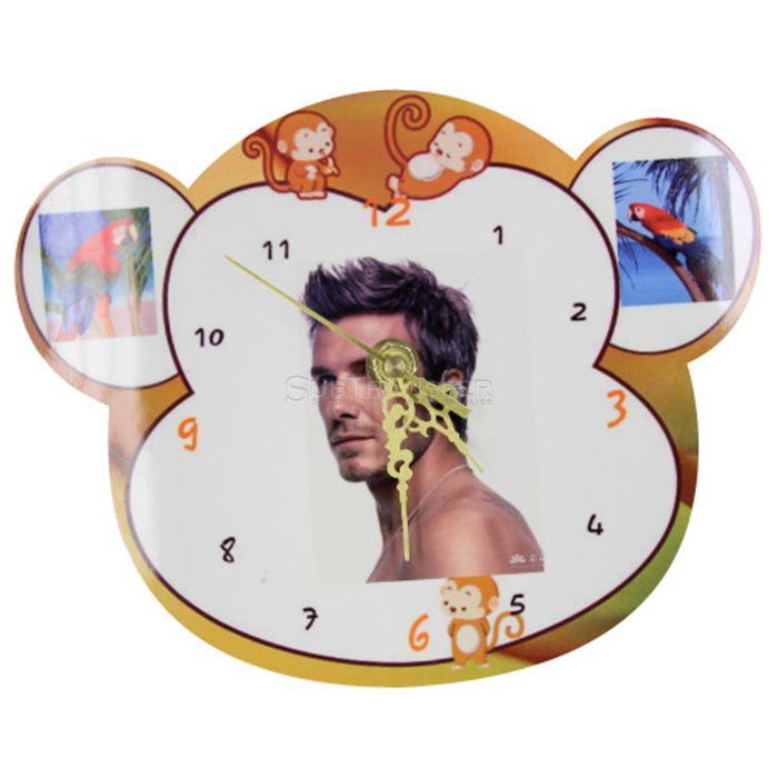 Sublimation Blank MDF Clock Animals