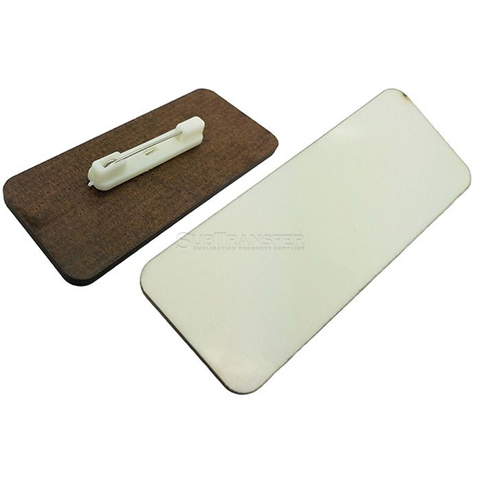 Sublimation MDF Name Tag With Pin