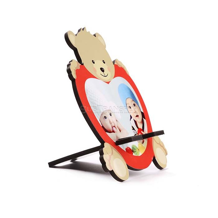 Sublimation Wooden Mobile Phone Stand Bear