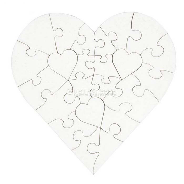 Sublimation MDF Puzzle Heart