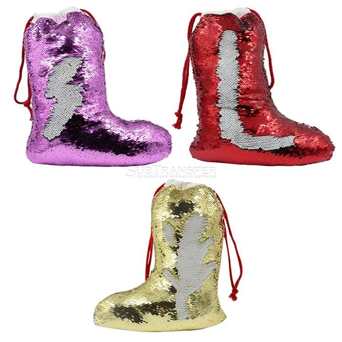 Sublimation Sequin Christmas Stocking