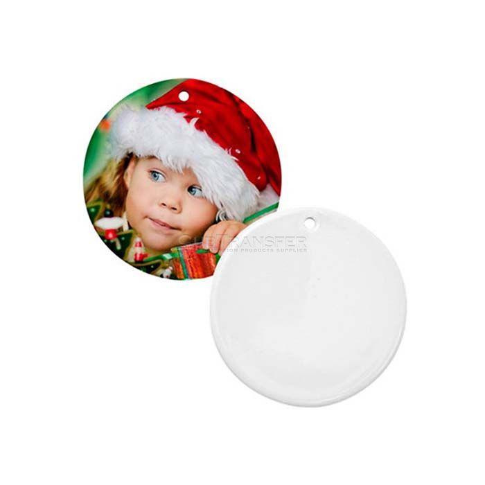 Sublimation Round Ceramic Ornament