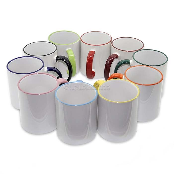 Sublimation Rim Handle Mug 11oz