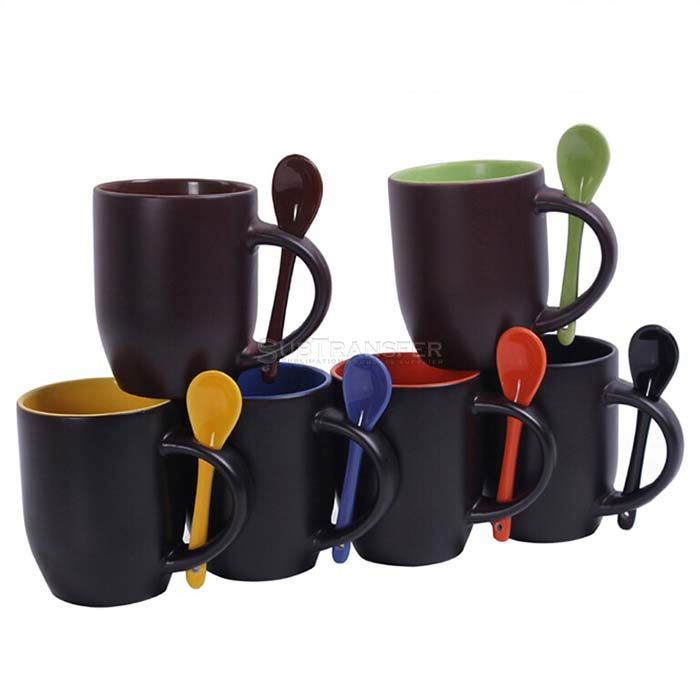 Sublimation Color Changing Mug With Spoon