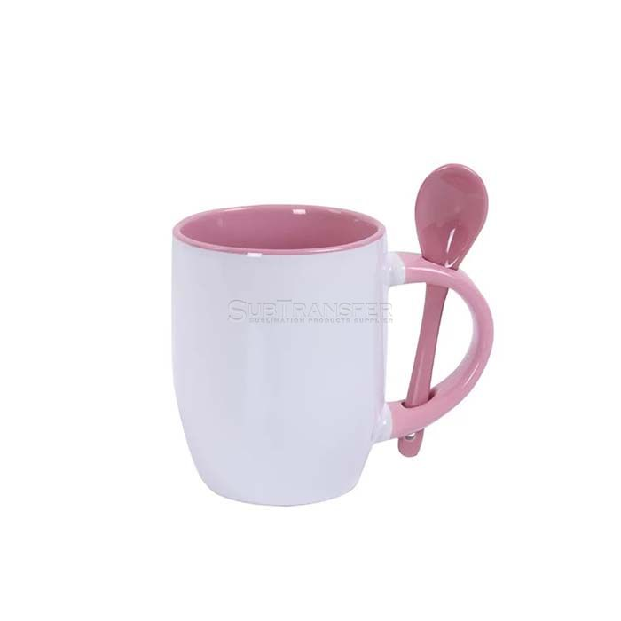 Sublimation Colored Mug With Spoon