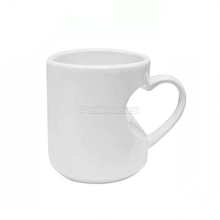 Sublimation Ceramic Heart Handle Mug