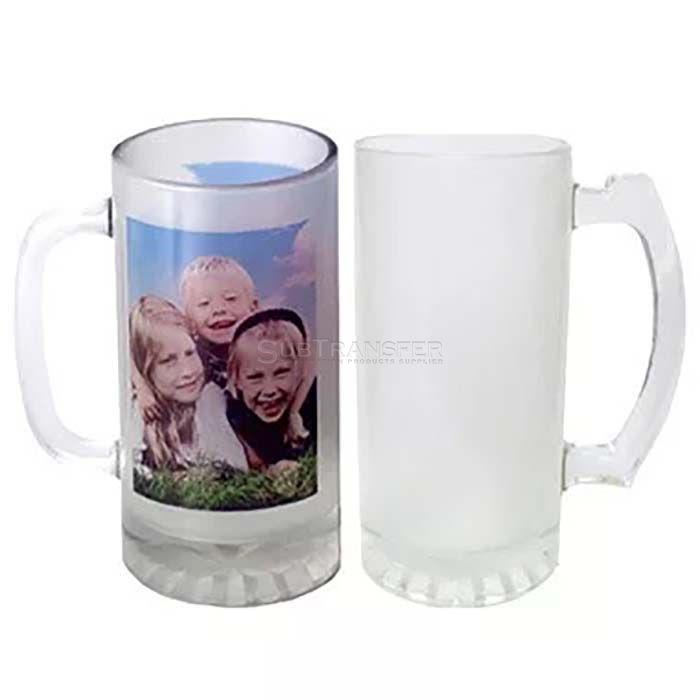 Sublimation Matte Glass Beer Mug 22oz