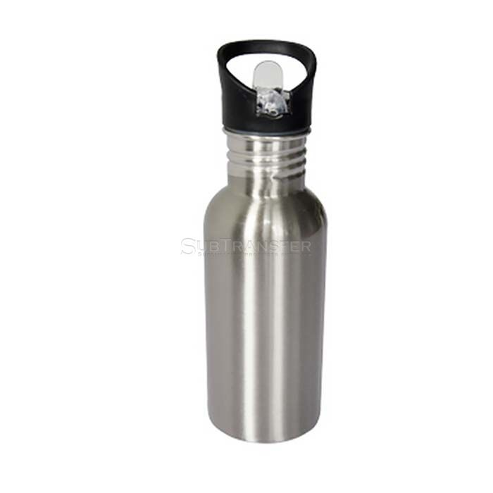 Sublimation Stainless Steel Water Bottle With Straw Top 500ml