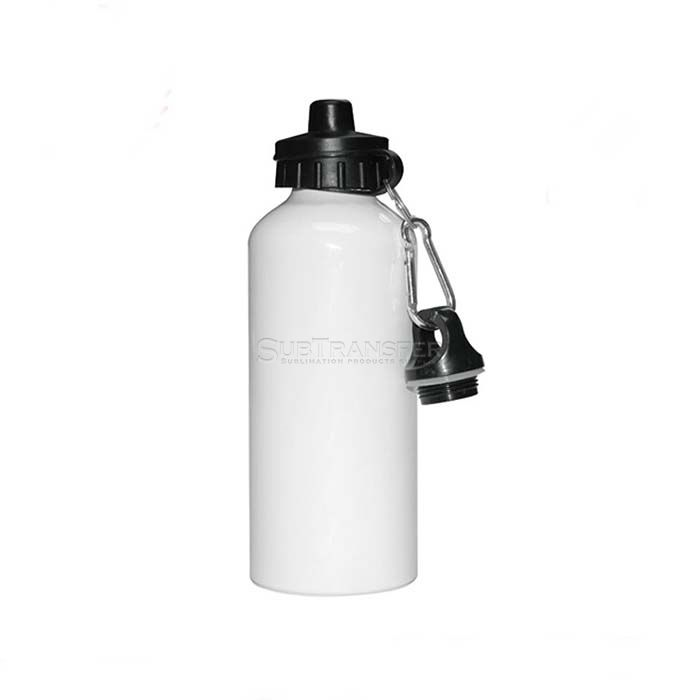 Sublimation Aluminum Water Bottle 400ml With Two Caps