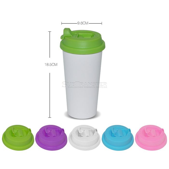 Sublimation Double Wall Tumbler With Flip-lock Lid