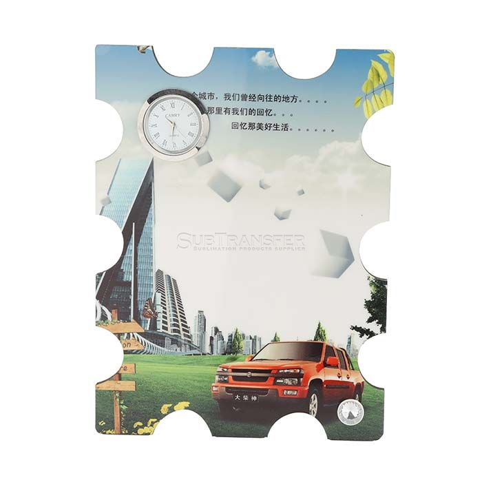 Sublimation MDF Wooden Table Clock