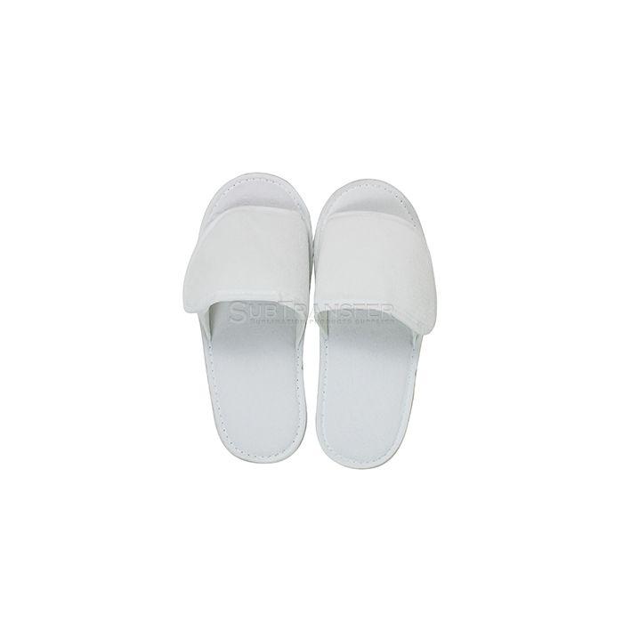 Sublimation White Flannelette Slipper