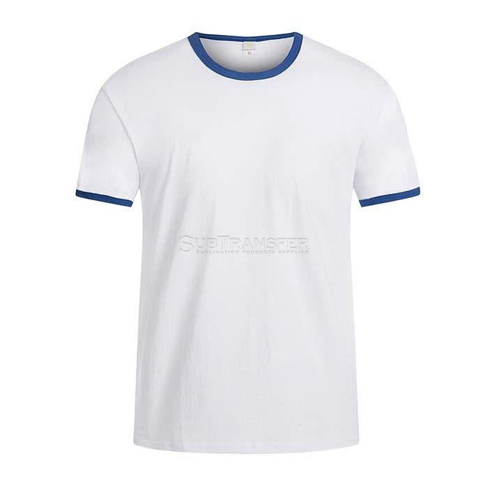 Sublimation Colored Edge Cotton T-shirt