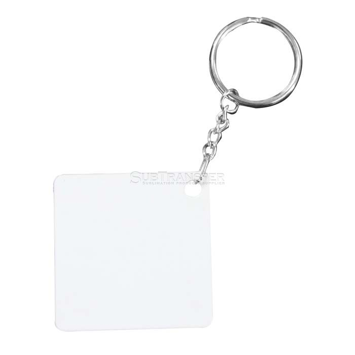 Square Shape Sublimation Plastic Keyring