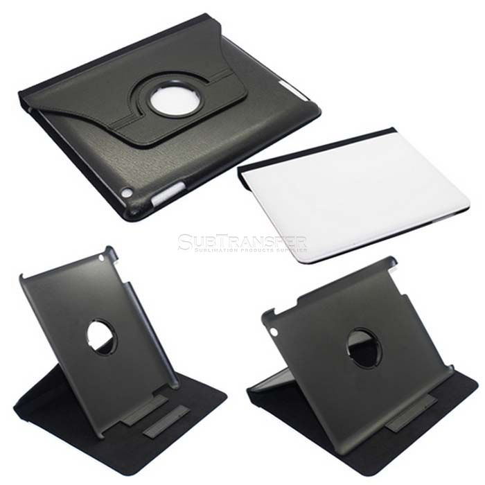 Sublimation 360 Degree Rotate Leather Flip Case For IPAD2/3/4