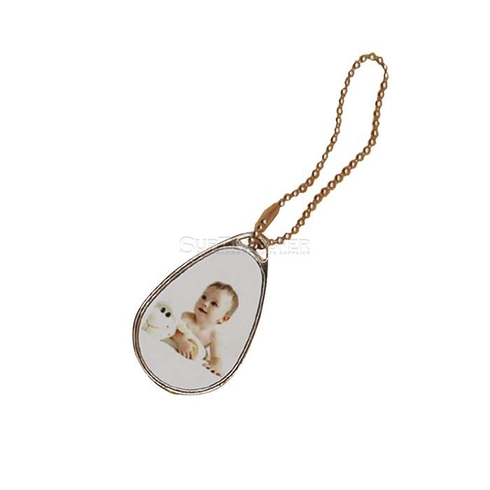 Sublimation Metal Pendant with metal insert