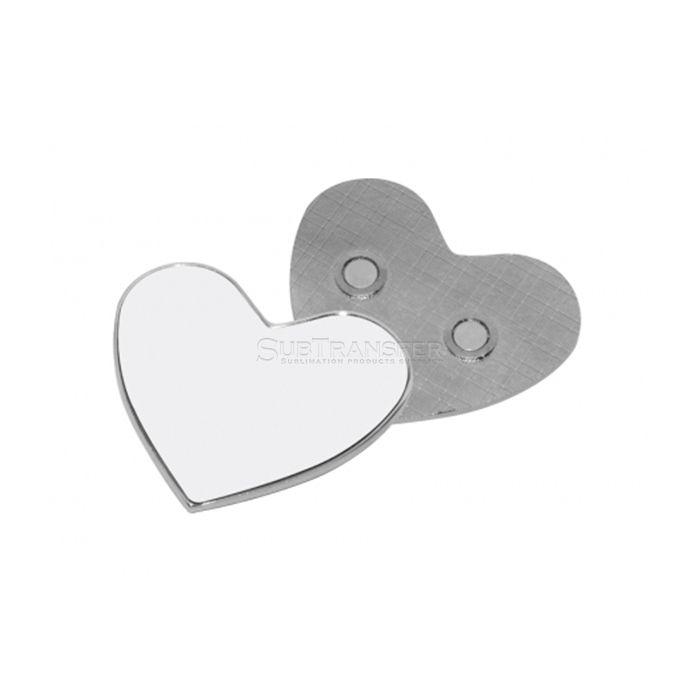 Heart Shape Sublimation Metal Fridge Magnet
