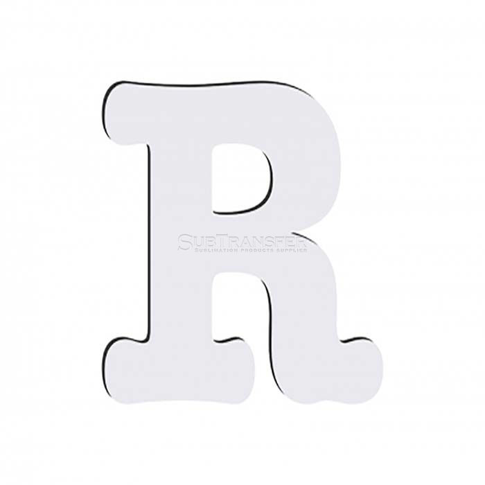 Sublimation Hardwood Letter R