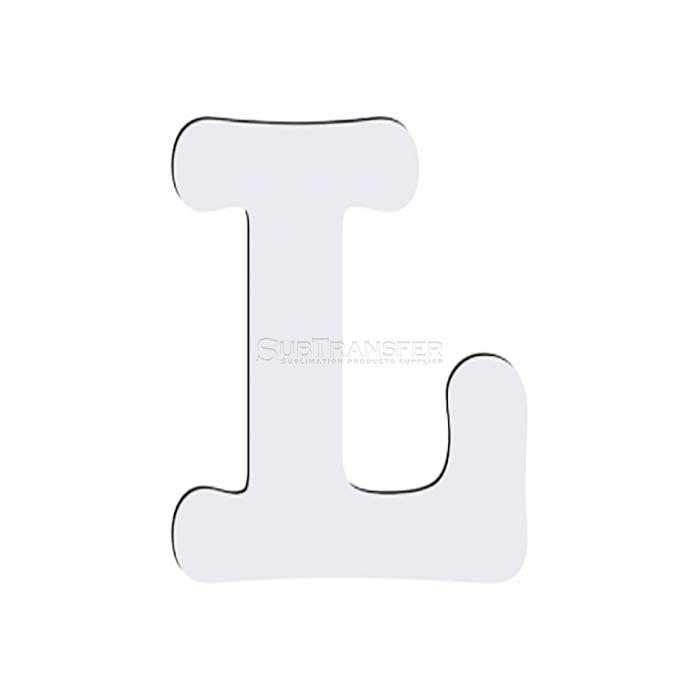 Sublimation Hardwood Letter L