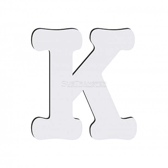 Sublimation Hardwood Letter K
