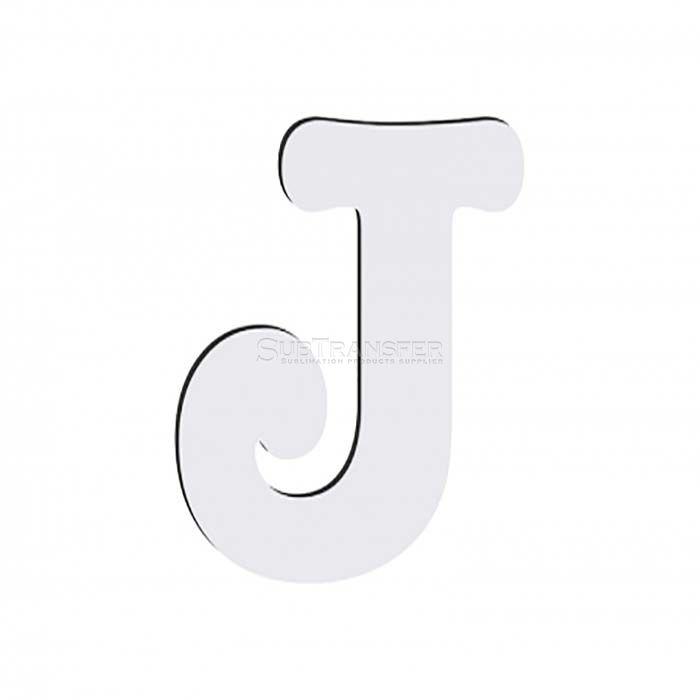Sublimation Hardwood Letter J